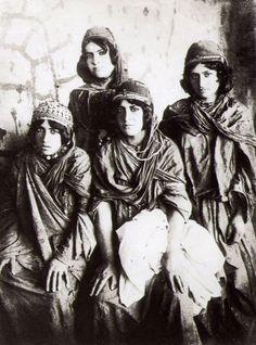 A 19th century photo by Antoin Sevruguin - Kurdish Girls