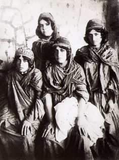 A 19th century photo by Antoin Sevruguin - Kurdish Girls