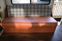 No sew RV/camper jack knife sofa and dinette cushion reupholstery - via Wandering Arrows Blog