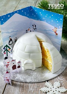 Bake and create your very own igloo with the kids this Christmas with the help of this easy bake-at-home cake kit | Tesco
