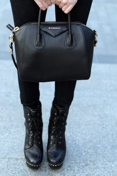Black leather Givenchy