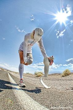 Determination and Inspiration:    Amy Palmiero-Winters, the first female amputee to complete the Badwater Ultramarathon, 135-miles Death Valley to Mount Whitney.