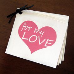 I normally think coupon books are kind of cheesy - however this would be pretty easy for valentines day!