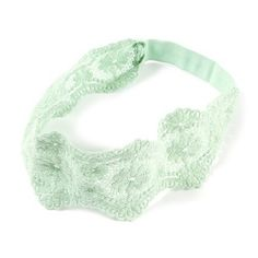 Mint Green Embroidered Lace Stretch Headwrap – Claires