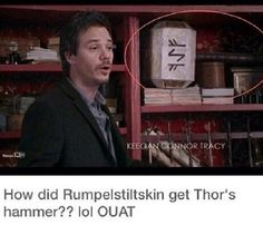 Lol well he is the dark one! They did pull Frozen into OUAT so why not the avengers!