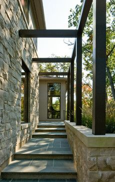 Interesting combination of rustic stone and contemporary lines - Fraerman Associates Architecture