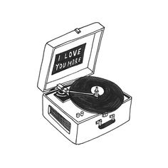 Via @scottchenoweth #illustration #vinyl #record_player #print #draw #love
