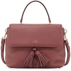 kate spade new york james street sparrow leather satchel bag ($445) ❤ liked on Polyvore featuring bags, handbags, rich rum raisin, kate spade purses, red satchel handbag, leather satchel, red purse and leather satchel purse
