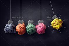 Newton's cradle crumpled paper bulb bright idea by BrianAJackson. Newtons cradle crumpled paper bulb bright idea on blackboard Hanging Cradle, Newton's Cradle, Red Balloon, Balloons, Swing Photography, Crumpled Paper, Kids Swing, Blackboards, Blog