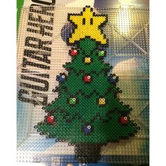 Christmas tree perler beads by  fetussandwich