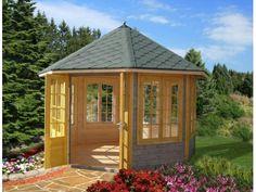 A lovely octagonal summerhouse by Palmako Log Cabins - The Carmen 7
