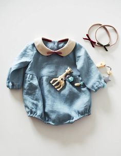 0149583ae11ba Baby Romper, Baby , Linen Baby Romper, Christmas Outfit, Girls , Baby  Outfits, Newborn Baby Clothes, Gift for Girl, Toddler Girl