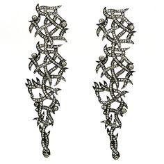 Custom made Swarovski  Crystals Color: Black diamond  Custom ordered at Taraintl or  At downtown LA store