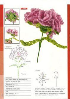 Crochet flower with diagram