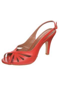 MOUSSE Sandales à talons hauts rouge orange