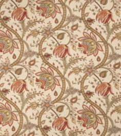 Upholstery Fabric-Eaton Square Griffin Creme Brulee, , hi-res Floral Upholstery Fabric, Chair Fabric, Drapery Fabric, Eaton Square, Dining Room Curtains, Fabricut Fabrics, Online Craft Store, Home Decor Fabric, Joanns Fabric And Crafts