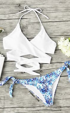 Jungle Print Mix & Match Wrap Bikini Set