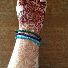 End of Summer colors @OpenSky #malachite #lapis #turquoise #diamonds #silver #henna #mehndi www.opensky.com/silver-continent-jewelry