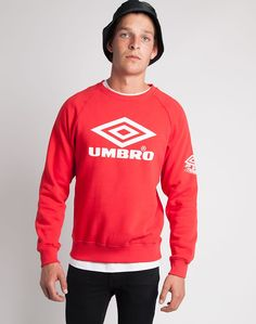 You can now buy Umbro Classic Crewneck Sweatshirts in Red online from menswear retailer THE IDLE MAN.
