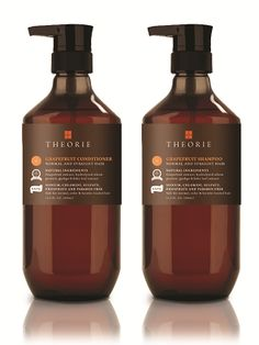 THEORIE: Grapefruit Shampoo & Conditioner Natural ingredients, no alcohol, and 100% cruelty free! #crueltyfree #beauty #happyhair