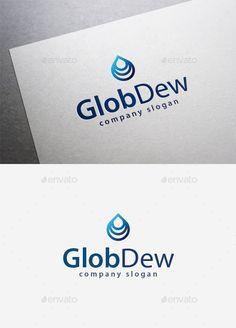 Glob Dew - Logo Design Template Vector #logotype Download it here: http://graphicriver.net/item/glob-dew-logo/9961359?s_rank=1427?ref=nexion