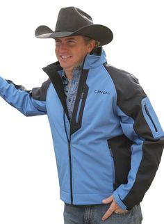 $99! last one! CINCH JEANS MENS JACKET Western Zip Athletic Bonded Blue MWJ1034000 NWT M #CINCH #JACKET