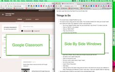 Google Classroom: Students Need Side by Side Windows