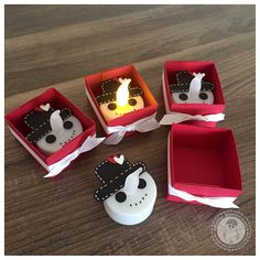 Stampin' Up! - LED Teelichter Schneemann - Bellas Stempelwelt Adventsmarkt - Glutrot