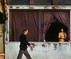 Vancouver, bargain shop, Photo by Fred Herzog 1962 Color Photography, Vintage Photography, Film Photography, Street Photography, Documentary Photography, White Photography, Landscape Photography, Nature Photography, Fashion Photography