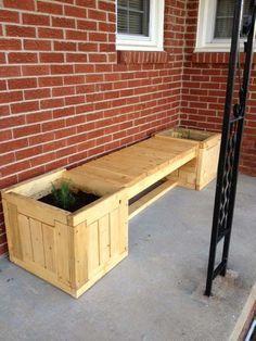 pallet bench cum planter