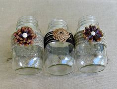 was thinking this would be cute as centerpieces for a little woodland themed baby shower!