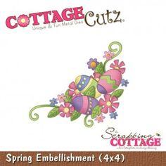 Cottage Cutz CC180 - Spring Embellishment (4x4)