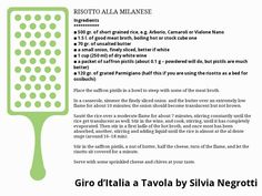 RISOTTO ALLA MILANESE Stock Cubes, Dry White Wine, Best Meat, White Cups, Unsalted Butter, Italian Recipes, Risotto