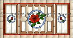 Design 10 With Rose Decorative Window Film