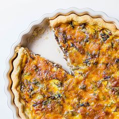 Swap your quiche Lorraine for this pretty, cheesy tart that makes use of winter's best chicory, radicchio.