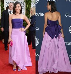 Aubrey Plaza and more stars wear dresses with funky backsides...CHECK THE SHOES