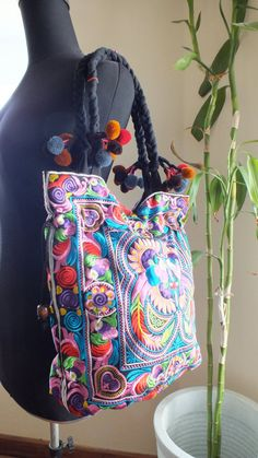 Bohemian bags tote Handbags ethnic style shoulder by shopthailand, $14.99