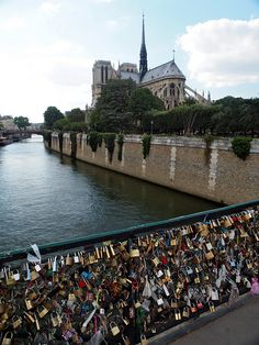Lover's locks and Notre Dame