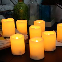 Flameless Votive Candles Boston Warehouse Mystique Flameless Votive Candles 3Inch Ivory