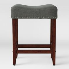 Rumford Saddle 24 Quot Counter Stool Gray Linen Threshold