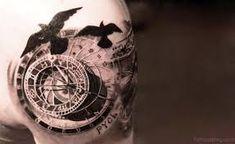 Výsledok vyhľadávania obrázkov pre dopyt stairs to clock tattoo