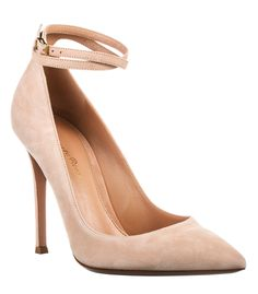 Nude Ankle-Strap Heels at #ShopBAZAAR - Gianvito Rossi Pump with Ankle Strap
