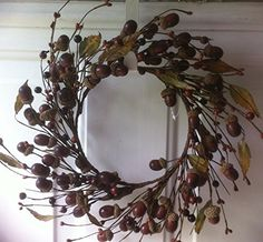 Gather Ye Acorn Wreath For Fall or Autumn Centerpiece Wreaths For Door http://www.amazon.com/dp/B00MC1PES8/ref=cm_sw_r_pi_dp_QTp6tb1VJJ30K