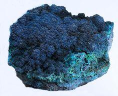 Cornetite & Chrysocolla                L'Etoile du Congo Mine (Star of the Congo Mine; Kalukuluku Mine), Lubumbashi,                 Katanga Copper Crescent, Katanga (Shaba), Democratic Republic of Congo (Zaïre)                15 x 10 x 7 cm