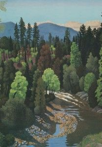 EJ Hughes ~ Cowichan River Near Duncan Canadian Artists, People Art, Whistler, Vancouver Island, Art Museum, Painting & Drawing, Giclee Print, River, Art Work