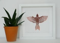 Sparrow - an original lino print by AlinaBjelos on Etsy