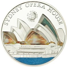 Palau 2011 5$ Sydney Opera House. World of Wonders III Proof Silver Coin :: Top World Coins