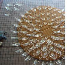 Home-Dzine - Repurpose plastic spoons into decorative mirror frame