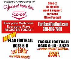 Fort Saskatchewan Minor Football Tackle Football, Flag Football