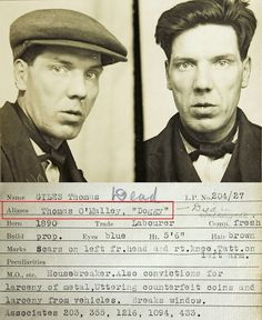 The 'rogue's gallery' of real-life criminals from Newcastle-upon-Tyne arrested for theft, pickpocketing and breaking into houses sends a chill down the spine Old Pictures, Old Photos, Vintage Photos, Vintage Portrait, Antique Pictures, Vintage Magazine, Pulp, Peaky Blinders, Color Of Life